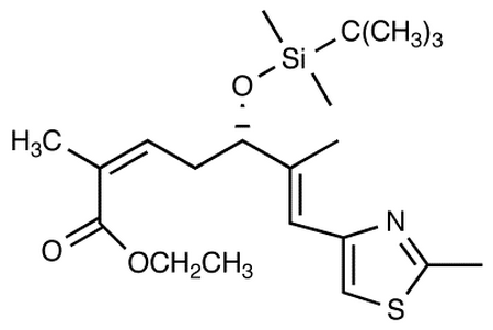 Ethyl (2Z,5S,6E)-5-[[tert-Butyl(dimethyl)silyl]oxy]-2,6-dimethyl-7-(2-methyl-1,3-thiazol-4-yl)hepta-2,6-dienoate