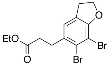 Ethyl 3-(6,7-Dibromo-2,3-dihydro-1-benzofuran-5-yl)propanoate