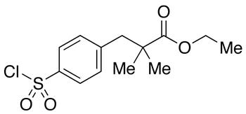 Ethyl 2,2-Dimethyl-3-(4-chlorosulfonylphenyl)propionate