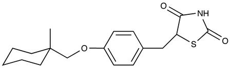 (+/-)-2-Imino-5-[4-(1-methylcyclohexylmethoxyl)benzyl]thiazolidine-4one