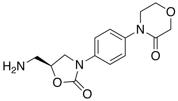 4-[4-[(5S)-5-Aminomethyl)-2-oxo-1,3-oxazolidin-3-yl]morpholin-3-one