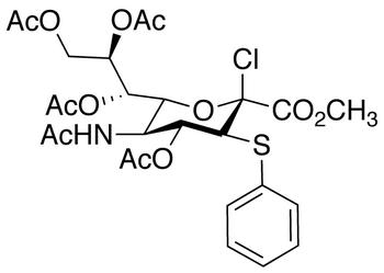 5-(Acetylamino)-2-chloro-2,5-dideoxy-3-S-phenyl-3-thio-D-erythro-α-L-gluco-2-nonulopyranosonic Acid Methyl Ester 4,7,8,9-Tetraacetate