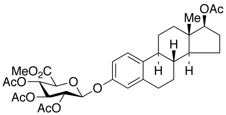 17β-Acetyl-estradiol 3-(Tri-O-acetyl-β-D-glucuronic Acid Methyl Ester)