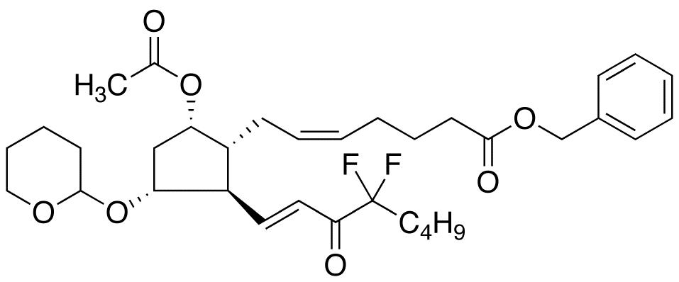 (5Z)-7-[(5-Acetyloxy-2-(4-difluoro-3-octen-1-one)-3-tetrahydropyranyloxy)cyclopentyl]-5-heptenoic Acid Benzyl Ester