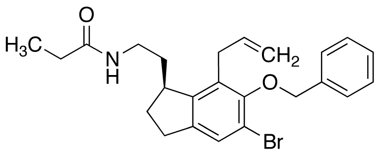 (S)-N-[2-[7-Allyl-5-bromo-6-benzyloxy-2,3-dihydro-1H-inden-1-yl]ethyl]propanamide