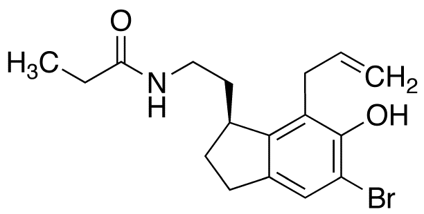 (S)-N-[2-[7-Allyl-5-bromo-2,3-dihydro-6-hydroxy-1H-inden-1-yl]ethyl]propanamide