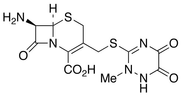 7-Amino-3-[[(2,5-dihydro-6-hydroxy-2-methyl-5-oxo-1,2,4-triazin-3-yl)thio]methyl]cephalosporanic acid