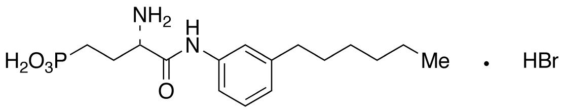 [(3S)-3-Amino-4-[(3-hexylphenyl)amino]-4-oxobutyl]phosphonic Acid Hydrobromide