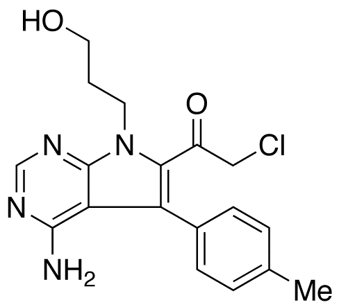1-[4-Amino-7-(3-hydroxypropyl)-5-(4-methylphenyl)-7H-pyrrolo[2,3-d]pyrimidin-6-yl]-2-chloro-ethanone