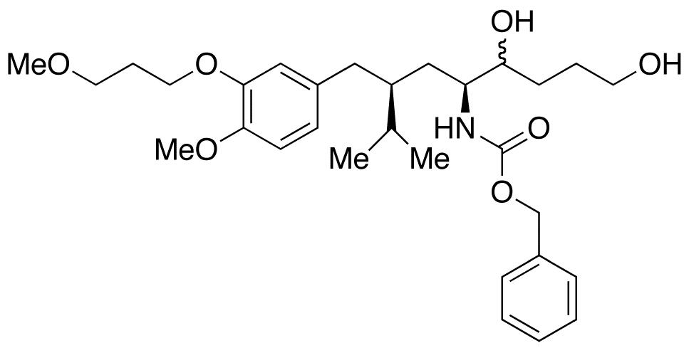 (5S,7S)-5-Amino-7-isopropyl-N-benzyloxycarbonyl-8-[4-methoxy-5-(3-methoxypropoxy)benzyl]octan-1,4-diol  (Mixture of Diastereomers)