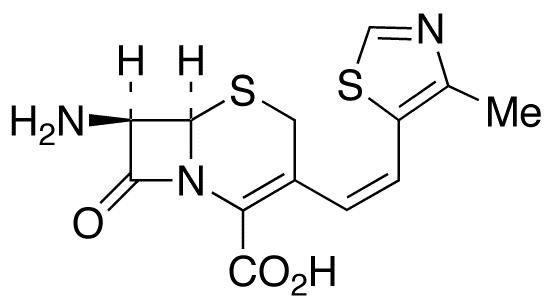 (6R,7R)-7-Amino-3-[(Z)-2-(4-methylthiazol-5-yl)ethenyl]-3-cephem-4-carboxylic Acid