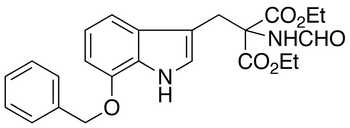 (7'-Benzyloxy-indolymethyl)formamido-malonic Diethyl Ester