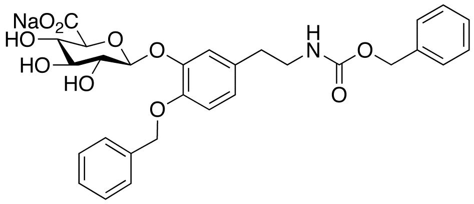N-Benzyloxycarbonyl-4-O-benzyl Dopamine 3-β-D-Glucuronide Sodium Salt