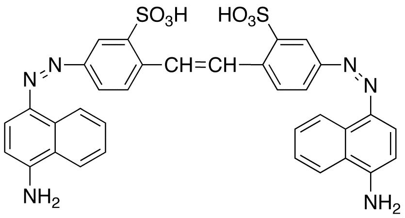 4,4'-Bis(4-amino-1-naphthylazo)-2,2'-stilbenedisulfonic Acid, 90%
