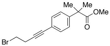 4-(4-Bromo-1-butyn-1-yl)-α,α-dimethyl-benzeneacetic Acid Methyl Ester