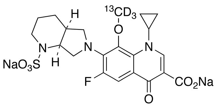 Moxifloxacin-<sup>13</sup>C,d<sub>3</sub> N-Sulfate Disodium Salt