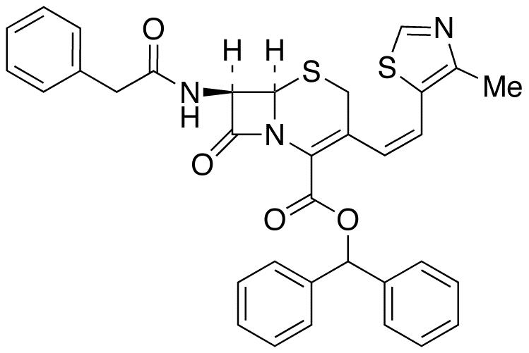 (6R,7R)-7-Phenylacetamido-3-[(Z)-2-(4-methylthiazol-5-yl)ethenyl]-3-cephem-4-carboxylic Acid Diphenyl Methyl Ester
