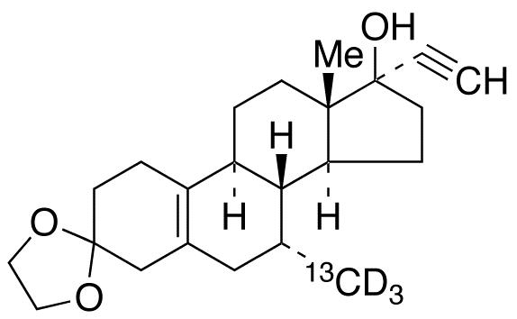 Tibolone-<sup>13</sup>C,d<sub>3</sub> 3-Ethylene Ketal