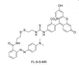 Fluoresceine-cystamine-methyl red
