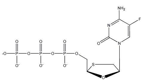 (-)-'-L-2',3'-Dideoxy-5-fluoro-3'-thiacytidine-5'-triphosphate,