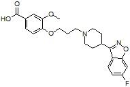 Iloperidone acid metabolite P95