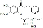 5-Hydroxy-4-methoxy-propafenone HCl