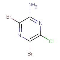 3,5-Dibromo-6-chloropyrazin-2-amine