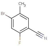 4-Bromo-2-fluoro-5-methylbenzonitrile