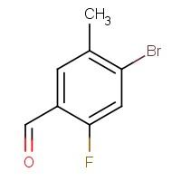 4-Bromo-2-fluoro-5-methylbenzaldehyde