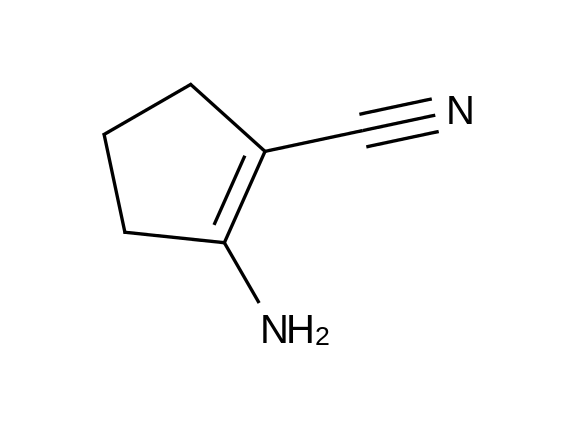 2-Amino-1-cyclopentene-1-carbonitrile