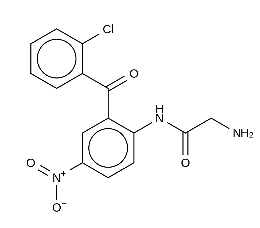2-Amino-N-[2-(2-chlorobenzoyl)-4-nitrophenyl]acetamide(Clonazepam Impurity)