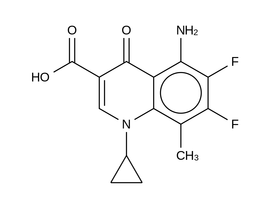 5-Amino-1-cyclopropyl-6,7-difluoro-1,4-dihydro-8-methyl-4-oxo-3-quinolinecarboxylic Acid