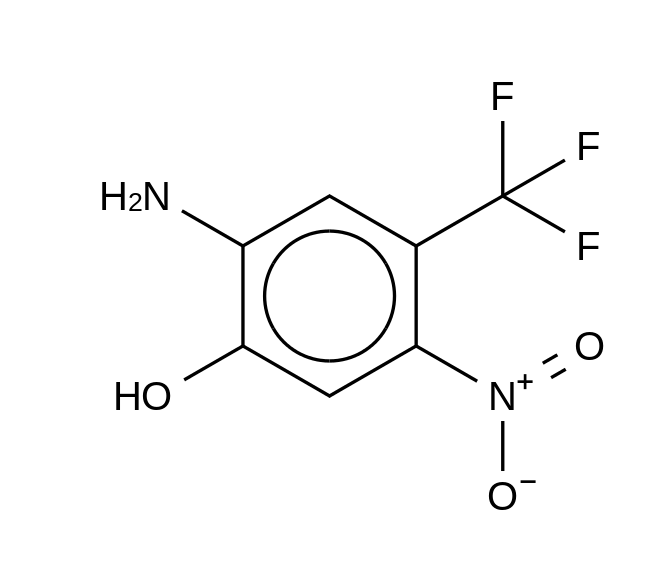 2-Amino-5-nitro-4-(trifluoromethyl)phenol (FLU-3)