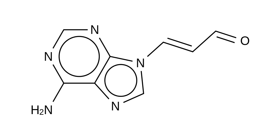 3-(6-Amino-9H-purin-9-yl)-2-propenal