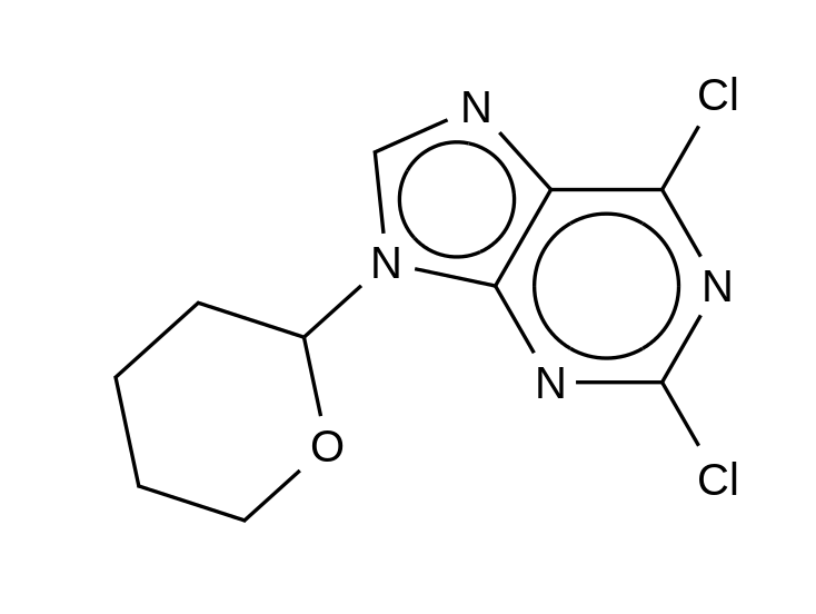 2,6-Dichloro-9-(tetrahydropyran-2-yl)-9H-purine