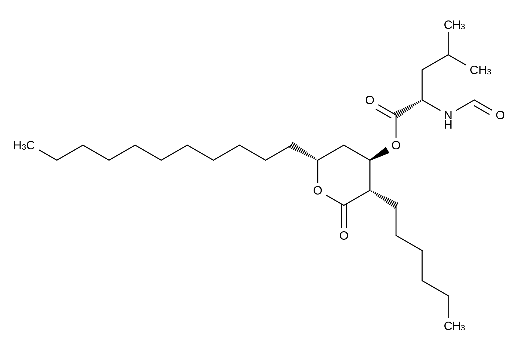 N-Formyl-L-leucine (3S,4R,6S)-3-Hexyltetrahydro-2-oxo-6-undecyl-2H-pyran-4-yl Ester