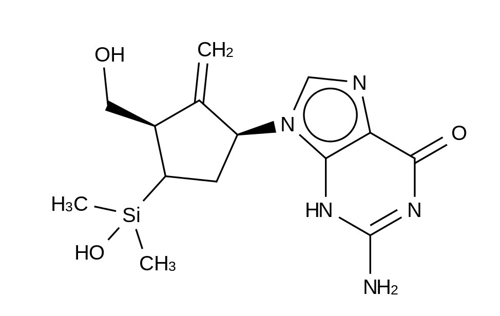 4-Dehydroxy-4-dimethylhydroxysilyl Entecavir