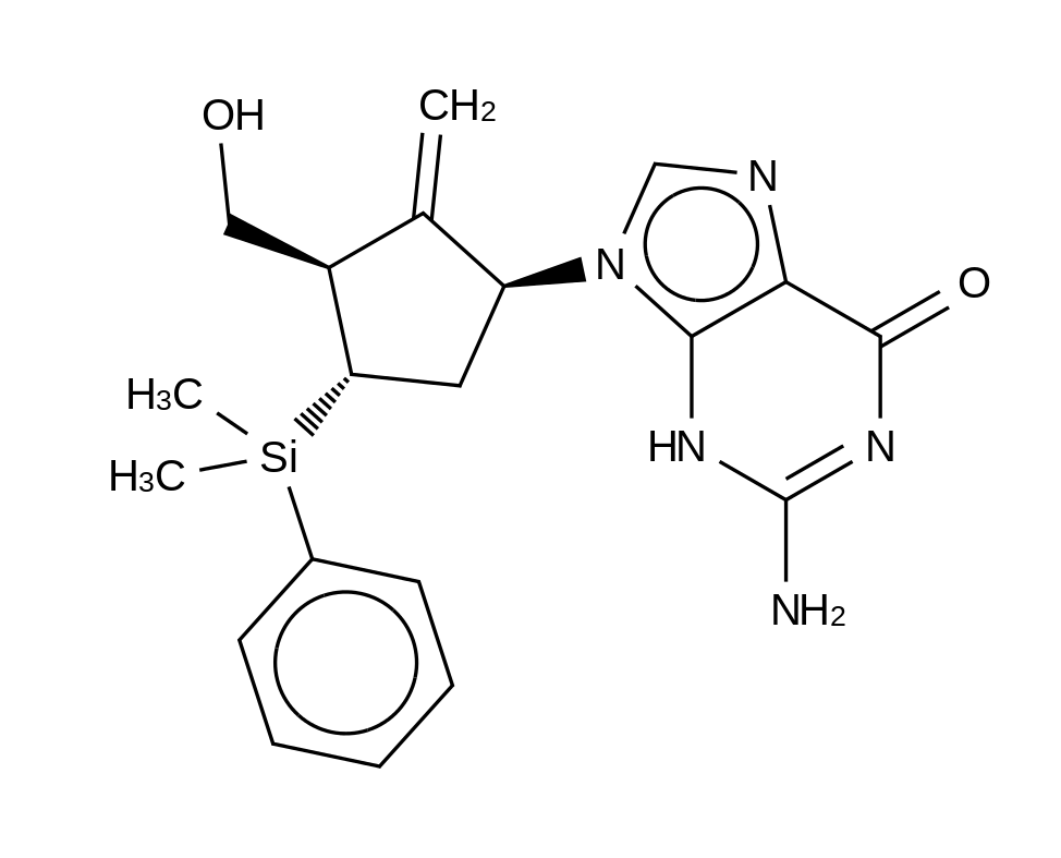 4-Dehydroxy-4-dimethylphenylsilyl Entecavir