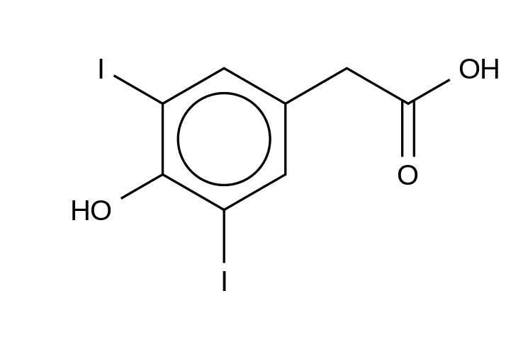 3,5-Diiodo-4-hydroxyphenylacetic Acid
