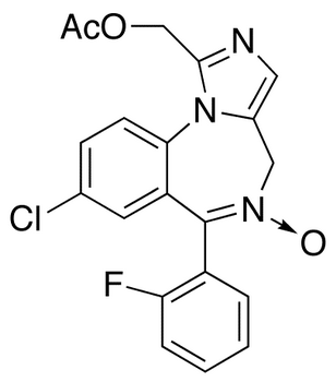 1-Acetoxymethyl-8-chloro-6-(2-fluorophenyl)-4H-imidazo[1,5-α][1,4]benzodiazepine 5-Oxide