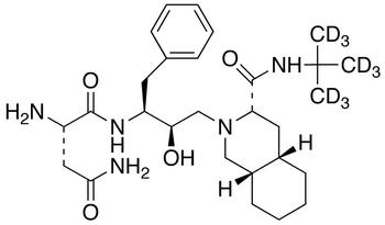 2-Amino-N-[1-benzyl-3-(3-tert-butylcarbamoyl-octahydro-isoquinolin-2-yl)-2-hydropropyl]-succinamide