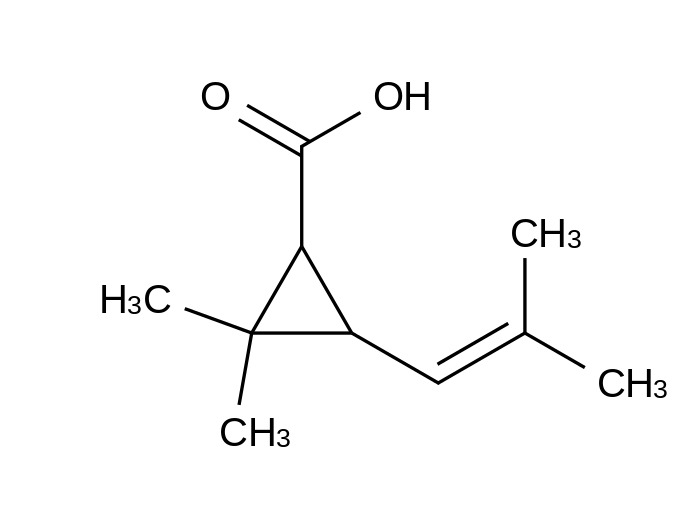 (+)-trans-Chrysanthemic Acid