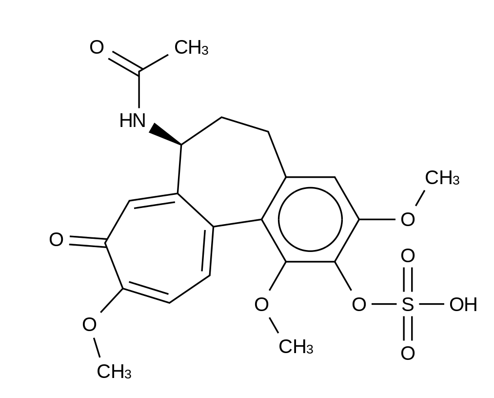 2-Demethyl Colchicine 2-O-Sulfate