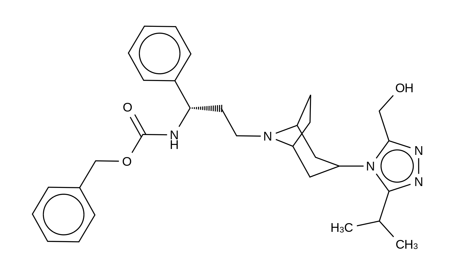 N-Des-(4,4-difluorocyclohexanecarboxy)-N-carbobenzyloxy-3-hydroxymethyl  Maraviroc