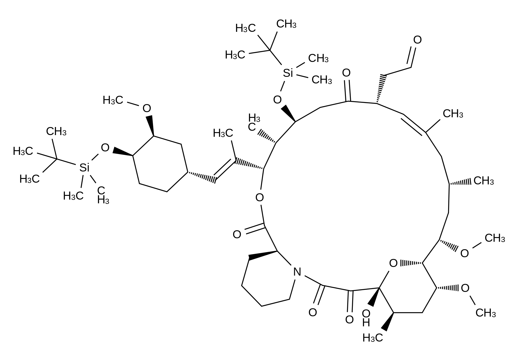 37-Desmethylene 24,33-Bis-O-(tert-butyldimethylsilyl)-37-oxo-FK-506