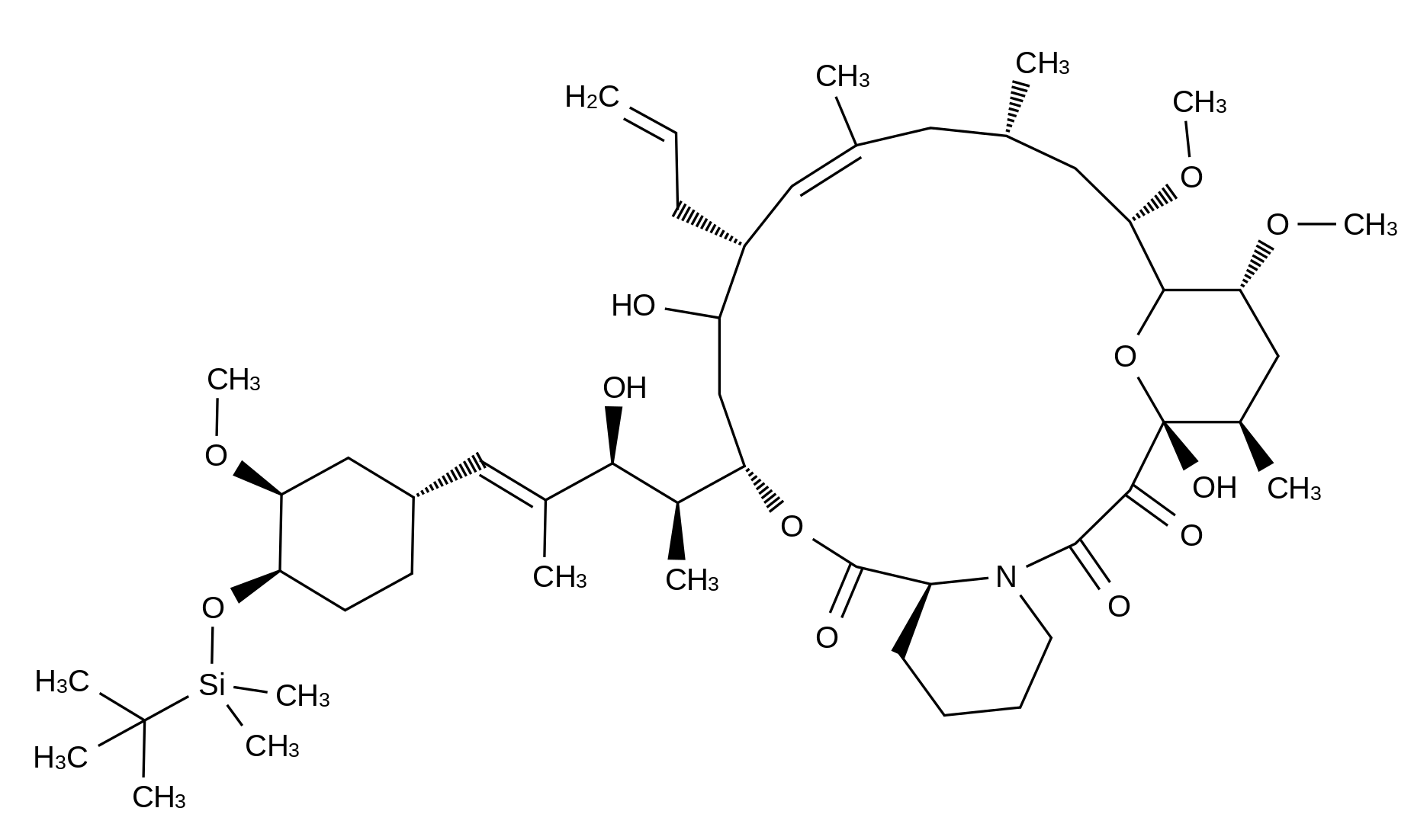 22-Hydroxy-33-tert-butyldimethylsilyloxy-iso-FK-506