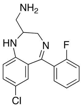 2-Aminomethyl-7-chloro-2,3-dihydro-5-(2-fluorophenyl)-1H-1,4-benzodiazepine