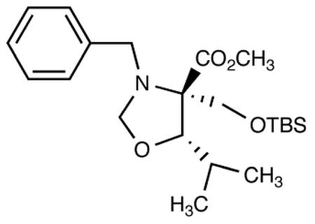 (4S,5S)-3-N-Benzyl-4-(t-butyldimethylsilyloxymethyl)-5-isopropyloxazoladine-4-carboxylic Acid Methyl Ester