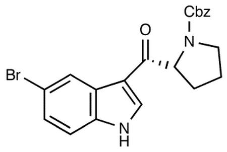 R-3-(N-Benzyloxycarbonylpyrrolidin-2-ylcarbonyl)-5-bromo-1H-indole
