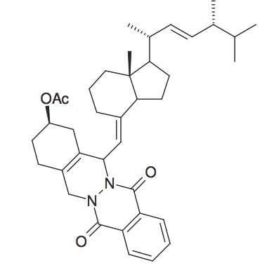 Acetic acid 14-[7a-methyl-1-(1,4,5-trimethyl-hex-2-enyl)- octahydro-inden-4-ylidenemethyl]-7,12-dioxo- 1,2,3,4,5,7,12,14-octahydro-phthalazino[2,3-β]phthalazin-2-yl ester